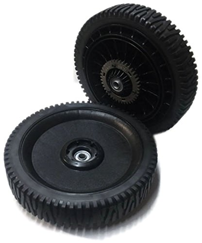 (Set of 2 Genuine OEM Poulan 583755601 Self Propelled Geared Lawnmower High Wheel 11 x 2 Inch Replaces 428780X428)