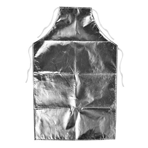 (Heat Resistant Apron 1000 Degree Heat Resistant Aluminum Foil Apron High Temperature Working Apron Cooking,)
