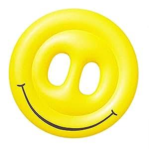 Balsa flotante para piscinas inflables, Cara de sonrisas ...