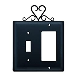 Village Wrought Iron Esg-51 Single Switch & Gfi - Heart