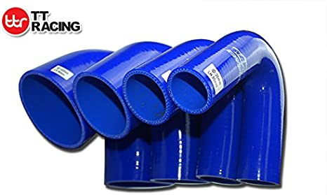 3-Ply Wall Thickness 0.16 4mm Black Leg Length 3.13 ID 0.75 80mm LC Silicone Hose 135-Deg Elbow Coupler 19mm