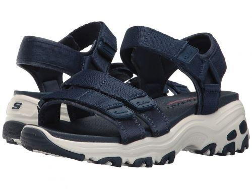 SKECHERS(スケッチャーズ) レディース 女性用 シューズ 靴 サンダル D'Lites - Fresh Catch - Navy [並行輸入品]