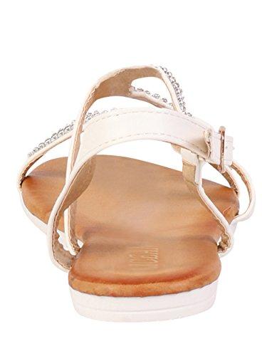 Damen Top Summer Beach, offene Zehen Sandalen Schuhe Weiß