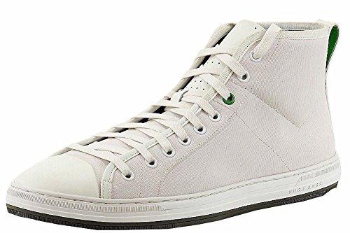 Hugo Boss Hombres Dynamo Blanco Lona / Cuero Zapatillas Zapatos