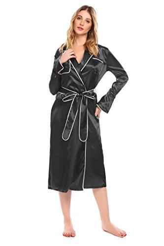 - Acecor Women's Nightgown Long Kimono Robe, Solid Color