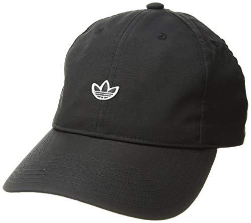 - adidas Women's Originals Nylon Relaxed Adjustable Strapback Cap, black/white, One Size