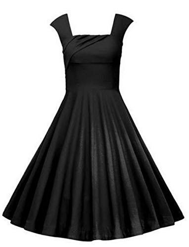 50s Little Black Dress - 7