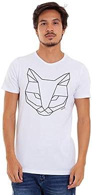 Joss Camiseta Básica Estampada Masculino, Pequeno, Branco
