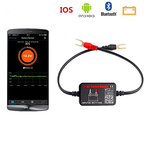 Quicklynks Battery Monitor BM2?? Wireless Car Battery Tester 12V Battery  Load Tester Bluetooth 4 0 Digital Battery Analyzer Battery Voltage Charging