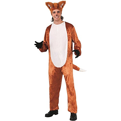 [Fox Adult Costume (Jumpsuit Only - No Hat)] (Fox Hat Costume)