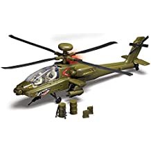 Motor Max 78203 Electronic Boeing AH-64 Apache Longbow Helicopter With Lights, Sound, Crew and Accessories