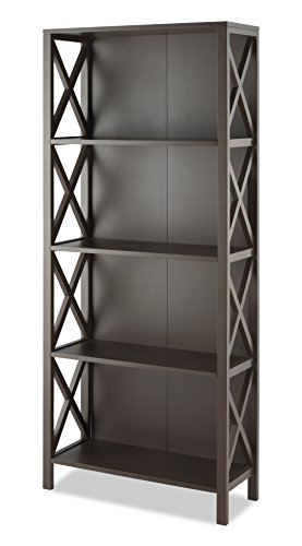 Whitmor Whitmor X-Frame 4-Shelf Bookcase, Espresso price tips cheap
