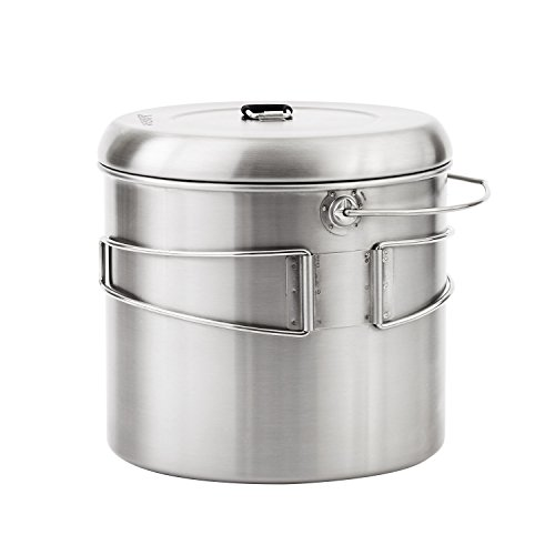 Solo Stove Pot 4000: Stainless Steel Companion Pot for Campfire. Great for Backpacking, Camping, Bushcraft, Survival by Solo Stove