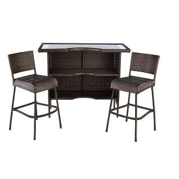 Amazon.com: Beverly 3-Piece Patio Bar Set: Kitchen & Dining