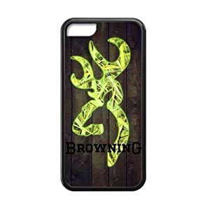 Lmf DIY phone caseStylish Design Browning Cutter Logo Wood HD Picture Custom Cases for iphone 5c TPU (Laser Technology)Lmf DIY phone case