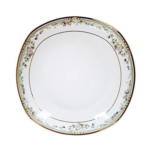 Lotus Pool Moonlight Series - Household Ceramic Bone Porcelain Western Plate 7-inch Square Plate/Healthy Tableware (6 pieces)