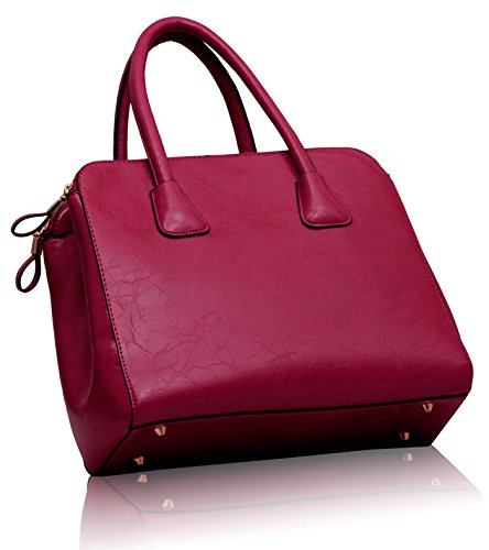 Womens 2 Bags Faux Leather Design Handbags New Croc Pink Designer Tote Ladies Shoulder Style rT7rq