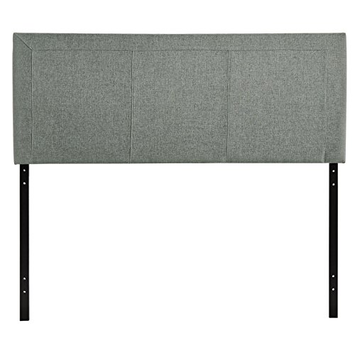 Modway Isabella Upholstered Fabric Headboard Queen Size In Gray (Fabric Isabella)