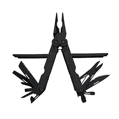 SOG Specialty Knives & Tools B61N-CP PowerLock EOD 2.0 Scissor Multi-Tool with Double Tooth Saw and Nylon Sheath, 22-Tools Combined, Black Finish