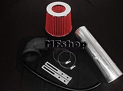 Long Version Air Intake Filter Kit System for 1997 1998 1999 2000 2001 2002 2003 2004 Jeep Grand Cherokee and Cherokee 4.0L I6 Red Filter /& Accessories