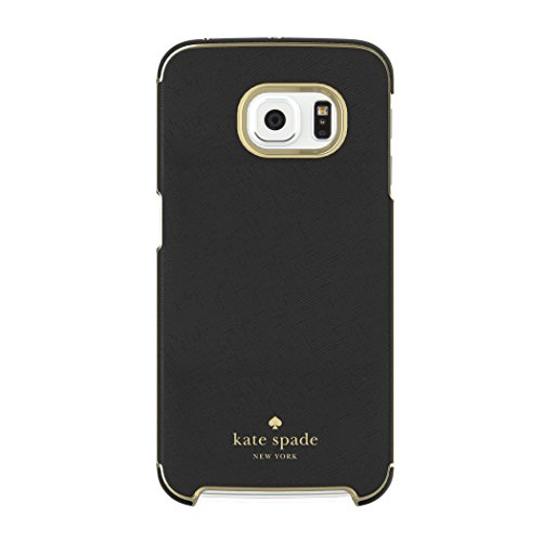 kate spade new york Samsung Galaxy S6 edge Wrap Case [Shock Absorbing] Cover fits Galaxy S6 edge Smartphone - Saffiano Black (Black Cell Phone Wrap)