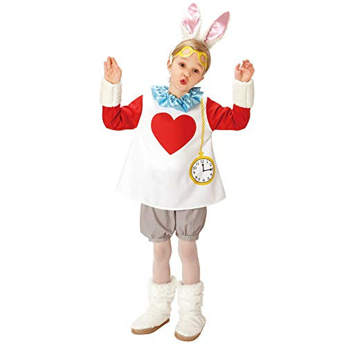 Disney Alice in Wonderland Costume - White Rabbit Costume - Child Small Size -