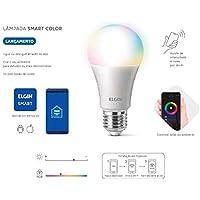 Lâmpada Led Bulbo 10w Bivolt Smart Color Wi-FI - Elgin
