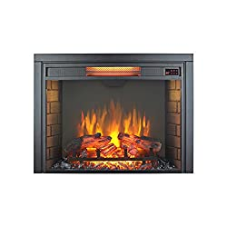 Innoflame 30inch Embedded Electric Fireplace Insert Heater with Remote Control ,1500W,Black by Innoflame
