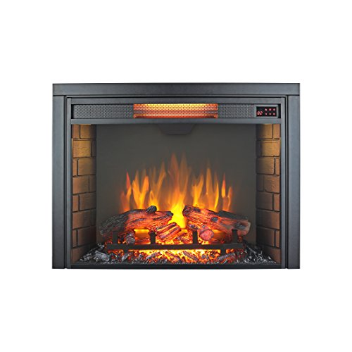 Innoflame 30 inch Embedded Electric Fireplace Insert Heater with Remote Control,1500W, Black For Sale