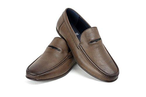 CABALLEROS Zapatos SIN CIERRES Inteligente Conducción Mocasín Café