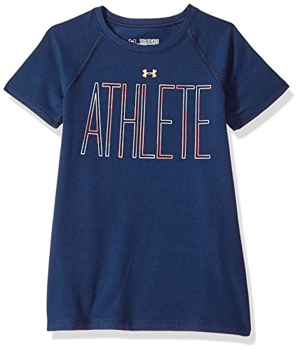 Under Armour Girls' Athlete T-Shirt, Academy (408)/Brilliance, Youth X-Large