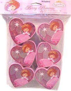 6 pk. MINI PARTY FAVOR BOXES STRAWBERRY SHORTCAKE PRINCESS ()