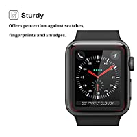Elinkee Apple iWatch Screen Protector 38mm, [2 Pack] [3D Full Coverage] [Anti-Scratch] [High Definition] Premium Tempered Glass Screen Protector for Apple Watch 38mm Series 3/2 from Elinkee