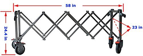 Stainless Steel Funeral Stretcher Truck Casket Church Truck Fordable Mortuary-cot-Funeral Trolley Chapel - Church Truck
