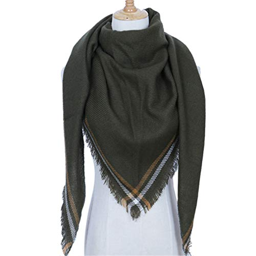 - Chic-Dona Winter Triangle Scarf Women Shawls and Wraps Cashmere Solid Color Scarves Blanket 8