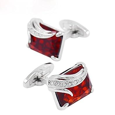 Luxus nobel franz/ösisch quadratische schwarze Rhinestone-Kristallmanschettenkn/öpfe f/ür M/änner und Frauen