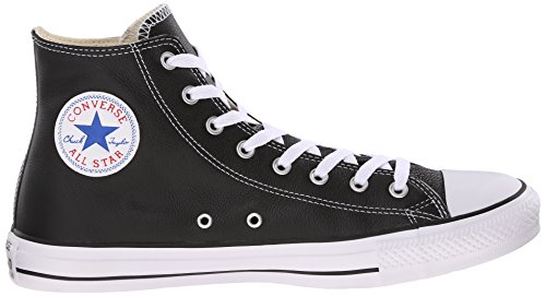 Top Star All Leather Taylor Black High Converse Chuck fwZSnqZ1