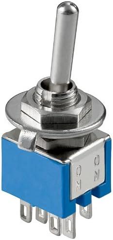 Interrupteur subminiatur 6 broches bo/îtier bleu-lot de 5
