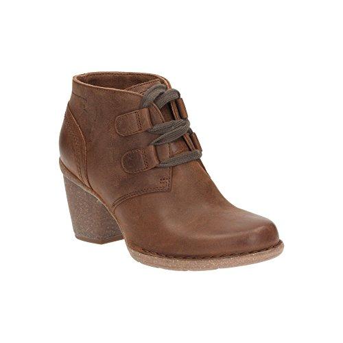 Clarks Détente Femme Boots/Bottes Carleta Lyon En Nubuck Marron