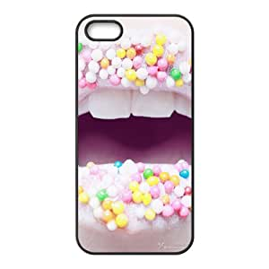Sexy Lips Black Phone Case for iPhone 5S