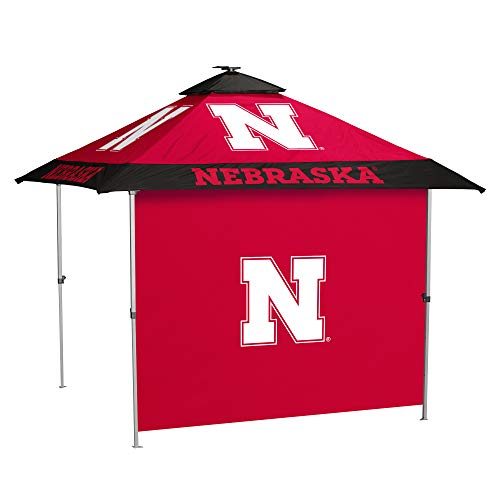 NCAA Nebraska Nebraska Pagoda Canopy w/Side Panel, One Size, Multi ()
