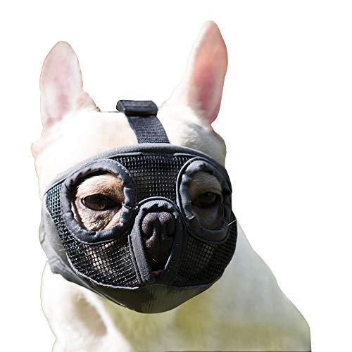 JYHY Short Snout Dog Muzzles- Adjustable Breathable Mesh Bulldog Muzzle for Biting Chewing Barking Training Dog Mask (M(11