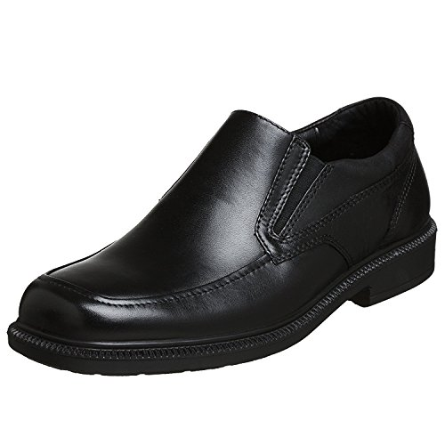 Hush Puppies Men's Leverage Slip-On, Black, 43 EU/9 UK