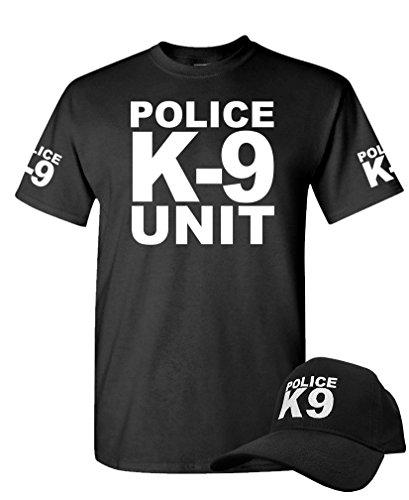 police officer swat - T-SHIRT + HAT COMBO, S, Black ()
