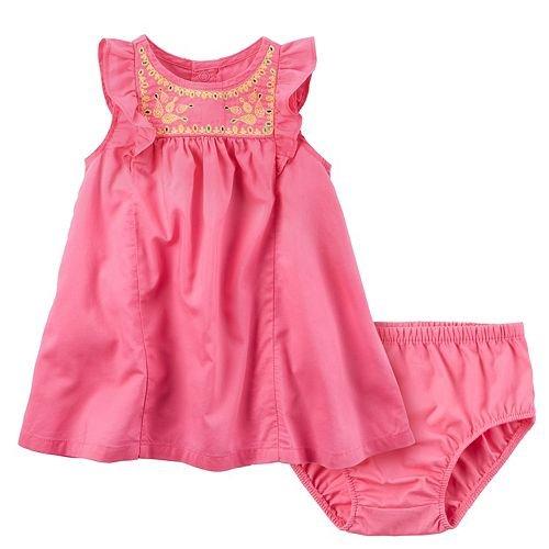 linen baby dress - 8