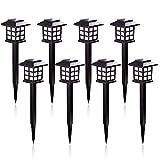 Esbaybulbs 8 Pack LED Solar Lights Outdoor Pathway, Patio Lights for Garden, Landscape, Yard, Lawn, Walkway