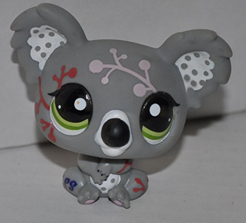 Grey) - Littlest Pet Shop (Retired) Collector Toy - LPS Collectible Replacement Single Figure - Loose (OOP Out of Package & Print) (1837 Print)