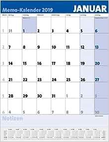 memo kalender 2019 9783731837602 books