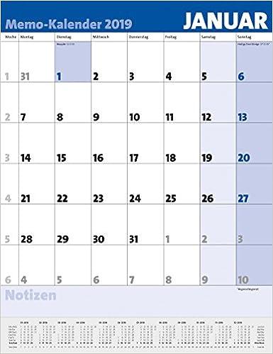 Memo Kalender 2019 9783731837602 Amazon Com Books