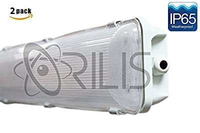 (2-Pack) Orilis 72W Commercial Outdoor Integrated Hardwired 4 Ft. Vapor Tight Water Resistant Anti-Fogging LED Fixture IP65 - 6500K - 7,000 - 9,000 Lumen